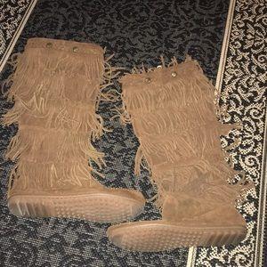 Tall Minnetonka boots